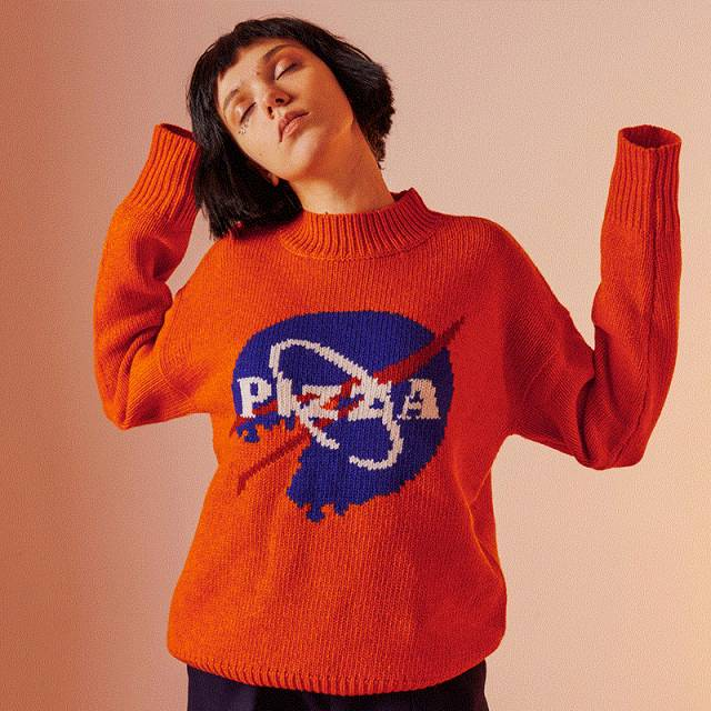 pizza sweater