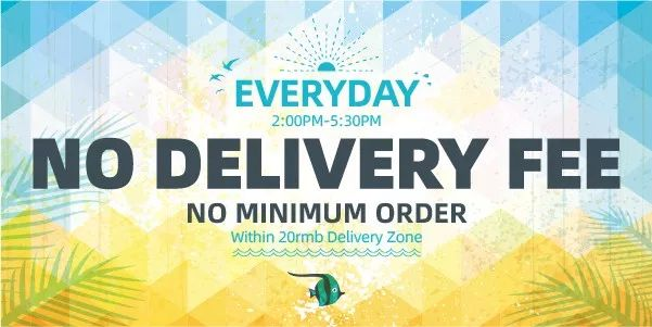 no delivery fee